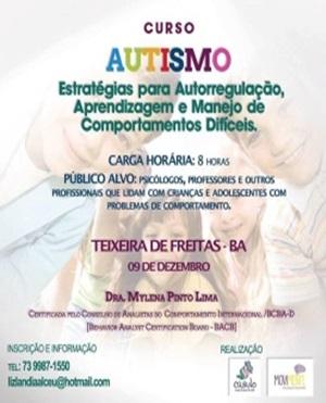 09.12.2017 | Curso Autismo Estratégias para autoregulação, aprendizagem e manejo de comportamentos difíceis